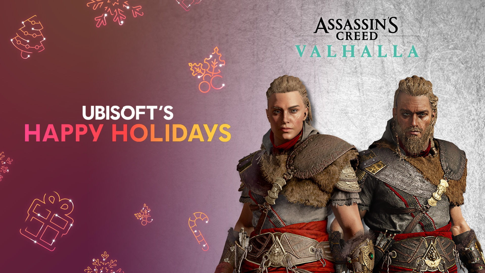Ubisoft's Happy Holidays - Get your free Rewards for Assassin's Creed Valhalla